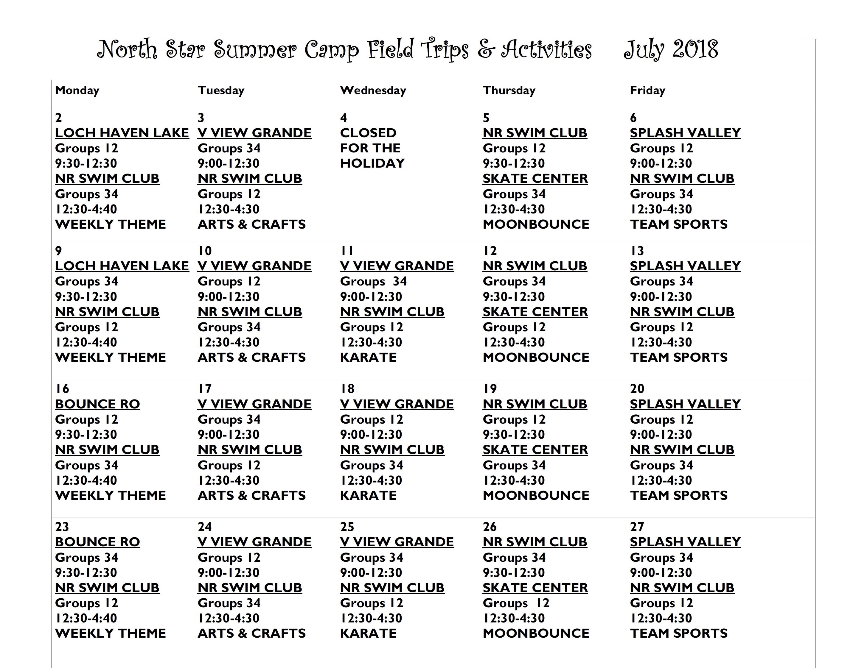 July 2018 Summer