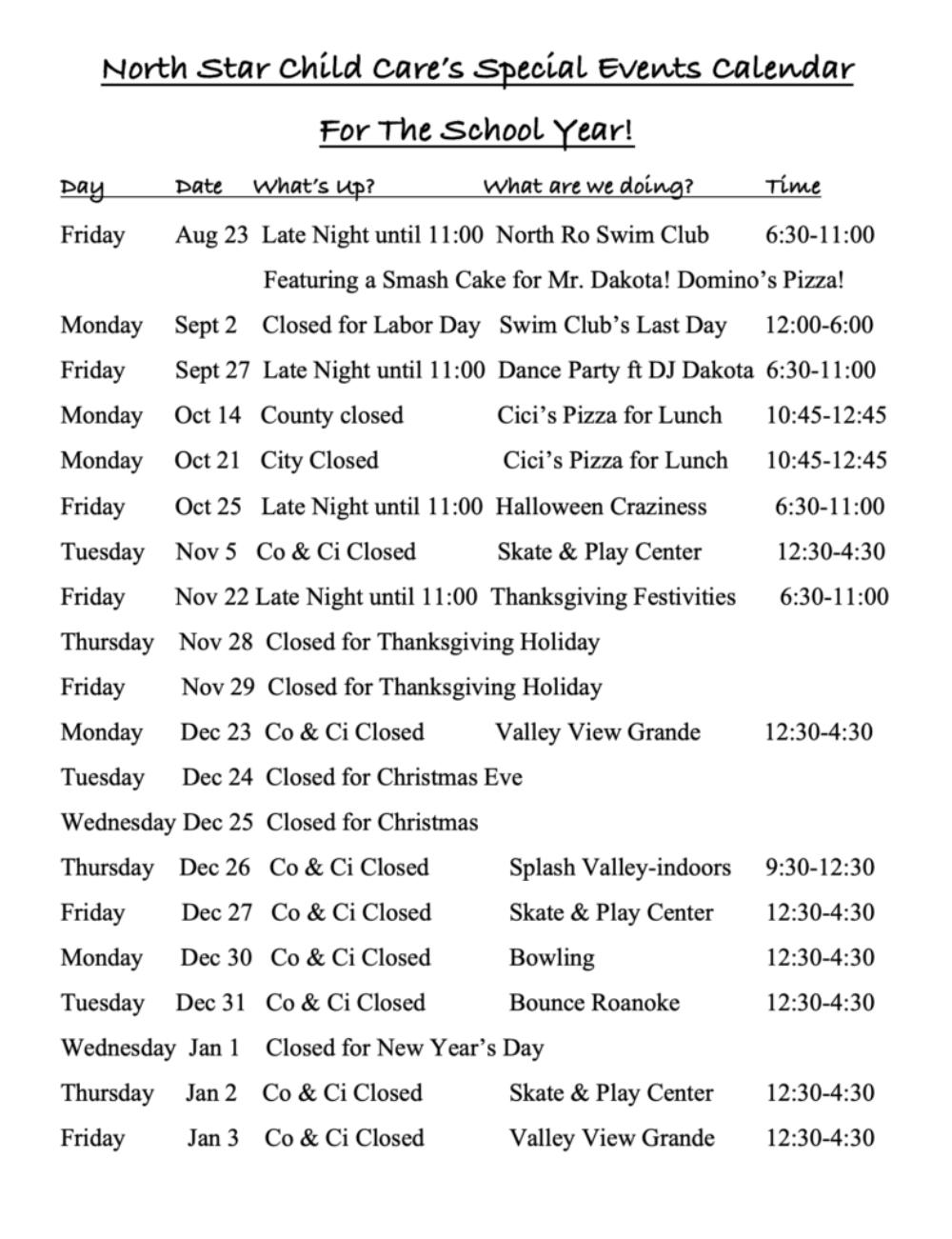 2019 WInter Schedule 1